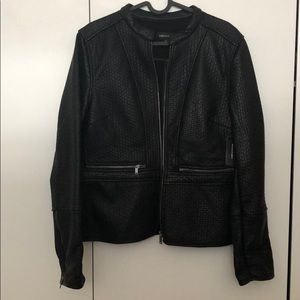 Brand New Lord & Taylor Faux Leather Shell Jacket